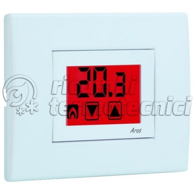 TERMOSTATO INCASSO VEMER TOUCH SCREEN BIANCO - 230V