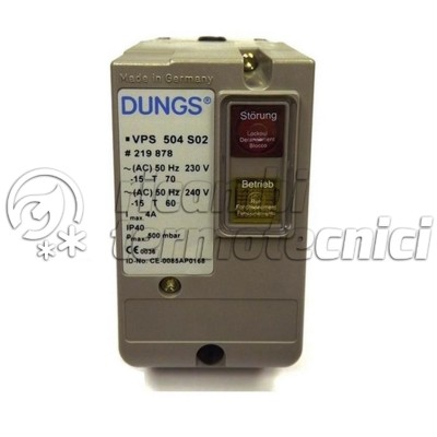DISPOSITIVO CONTROLLO TENUTA DUNGS VPS 504 SERIE 04
